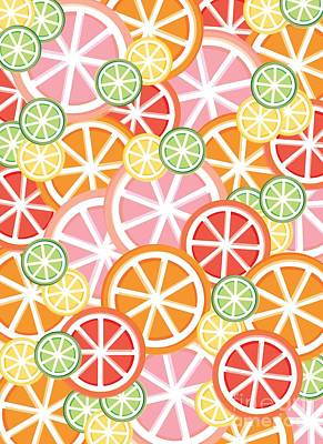 Lime Drawing - Sweet And Sour Citrus Print by Lauren Amelia Hughes