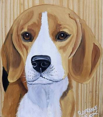 Beagle Puppies Painting - Sweet Beagle  by Debbie LaFrance