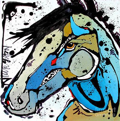 Horse Painting - Sweet Blue by Nicole Gaitan