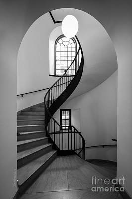Library Photograph - Sweet Briar College Cochran Library Stairwell by University Icons