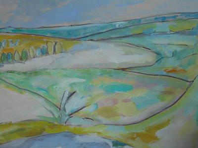 Liberal Painting - Sweet Briar Morning by Maria Elena Ferran