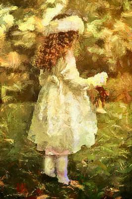 Little Girl Mixed Media - Sweet Child Of Innocent Joy by Georgiana Romanovna