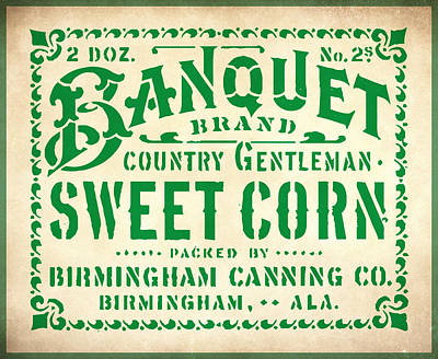 Sweet Corn Sign Print by Gary Grayson