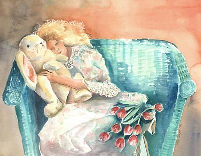 Watercolor Painting - Sweet Dreams by Arline Wagner