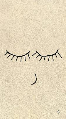 Eye Lashes Drawing - Sweet Dreams by Marian Palucci-Lonzetta