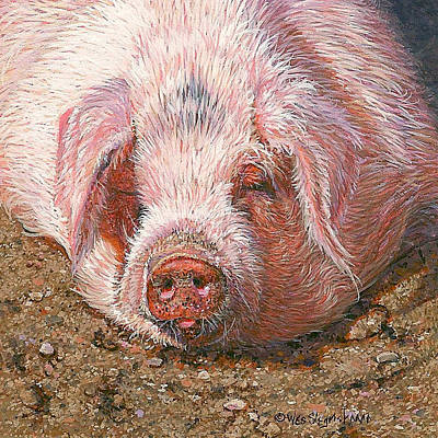 Of A Pig Painting - Sweet Dreams by Wes Siegrist