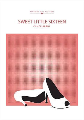 Sweet Sixteen Drawing - Sweet Little Sixteen -- Chuck Berry by David Davies