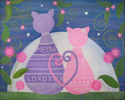 Cat Painting - Sweet November by Samantha Shirley