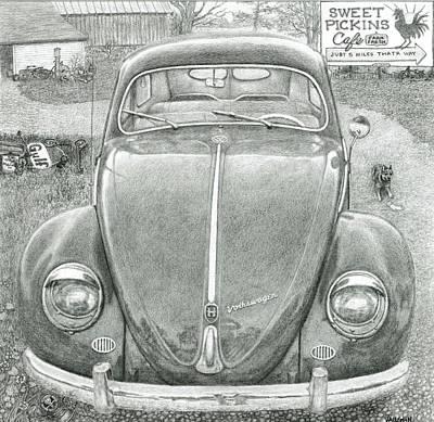 Blue Healer Drawing - Sweet Pickins by Sarah E Vaughn
