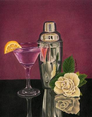 Cosmopolitan Drawing - Sweet Reflections by Diana Ranstrom
