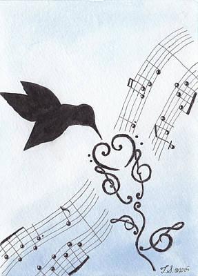 Hummingbird Mixed Media - Sweet Symphony by Theresa Stinnett