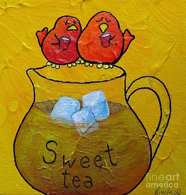 Limbbirds Painting - Sweet Tea by LimbBirds Whimsical Birds