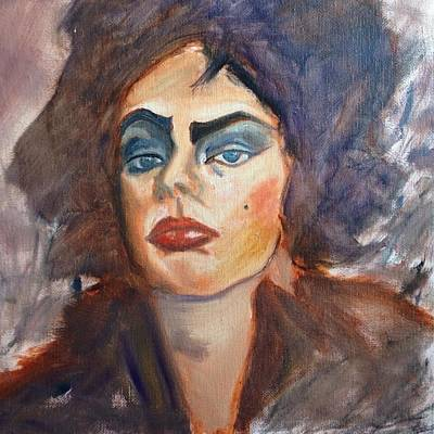 Tim Curry Painting - Sweet Transvestite by Eulalia Gamez