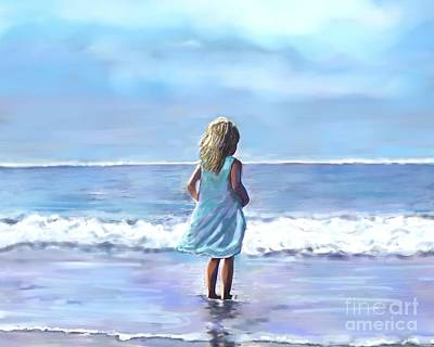 Painting - Sweetness On The Beach by Leslie Allen