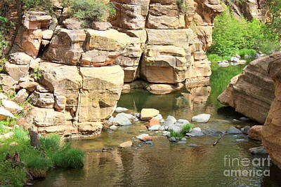 Swimming Hole At Slide Rock Print by Carol Groenen