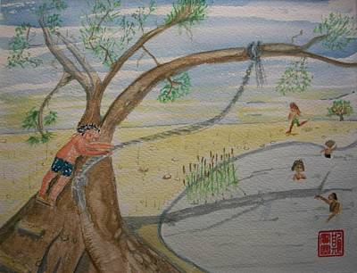 Swing Painting - Swimming Hole by Spencer  Joyner