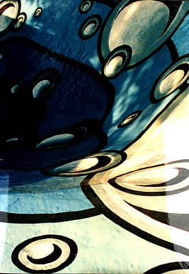 Swimming Pool Mural Detail 2 Print by Rachel Christine Nowicki