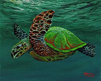 Sea Turtles Painting - Swimming With Aloha by Darice Machel McGuire