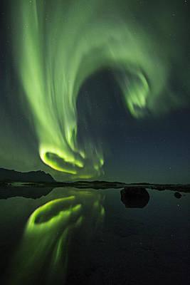 Aurora Photograph - Swirl by Frank Olsen