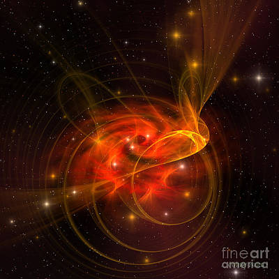 Swirling Galaxy Print by Corey Ford