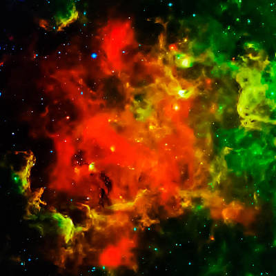 Space Photograph - Swirling Landscape Of Stars by Britten Adams