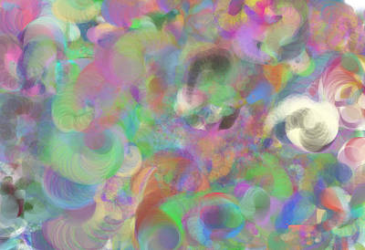 Multihued Digital Art - Swirls Of Color by Michelle  BarlondSmith