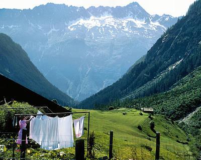 Swiss Laundry Print by Joe Bonita