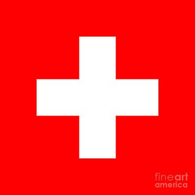Switzerland Mixed Media - Switzerland Flag by Frederick Holiday