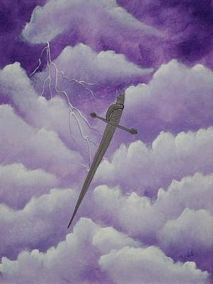 Christian Artwork Mixed Media - Sword Of The Spirit by Laurie Kidd