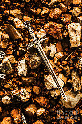 Swords And Legends Print by Jorgo Photography - Wall Art Gallery
