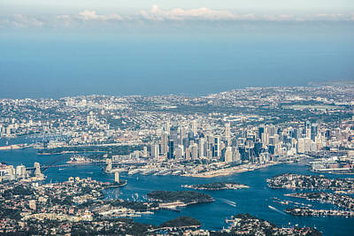 Sydney Skyline Photograph - Sydney From The Air by Parker Cunningham