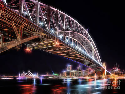 Sydney Mixed Media - Sydney Harbour Bridge by Marvin Blaine