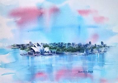 Sydney Skyline Painting - Sydney Impressions by Debbie Lewis