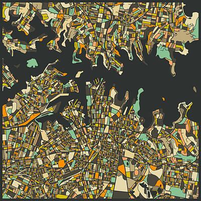City Map Digital Art - Sydney Map by Jazzberry Blue
