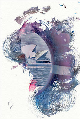 Sydney Opera House Abstract Print by Az Jackson