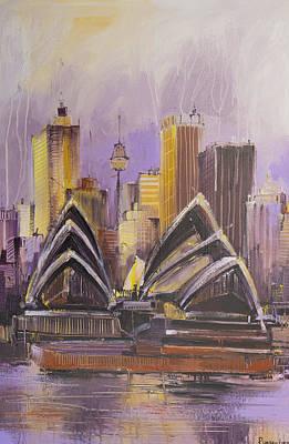 Sydney Skyline Painting - Sydney Opera House by Irina Rumyantseva