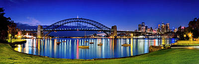 Sydney Reflections Print by Sean Davey