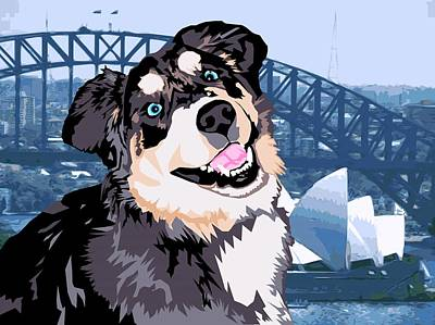 Digital Art - Sydney by Sarah Crumpler
