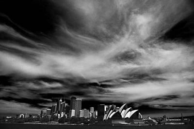 Sydney Skyline Photograph - Sydney Skyline With Dramatic Sky by Avalon Fine Art Photography