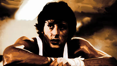 Stallone Mixed Media - Sylvester Stallone  by Brian Reaves