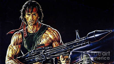 Stallone Mixed Media - Sylvester Stallone Collection by Marvin Blaine