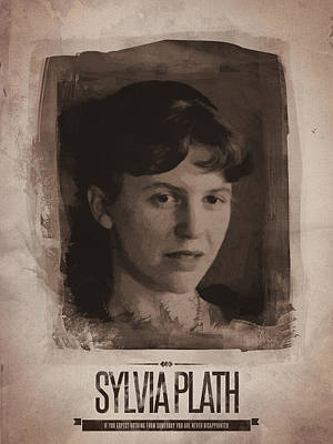 Quote Digital Art - Sylvia Plath by Afterdarkness