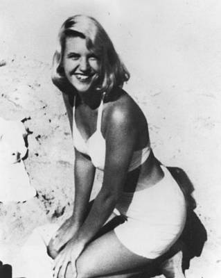 Sylvia Photograph - Sylvia Plath, C. 1954 After Her Nervous by Everett