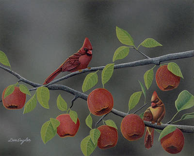 Fruit Tree Art Painting - Symphony In Red by Don Engler