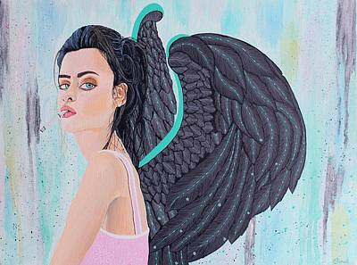 Angels Smoking Painting - Synchrony by Sonal Poghat