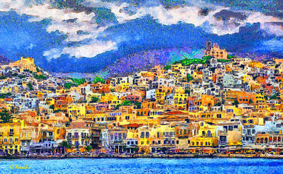 Ella Painting - Syros by George Rossidis