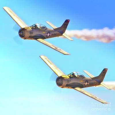T-38s Fly Tandem Print by Gus McCrea
