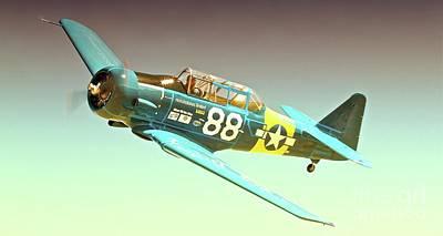 T-6 Race 88  Original by Gus McCrea
