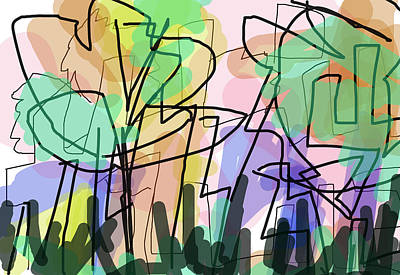 Jungle Painting - Zennden   by Paul Sutcliffe