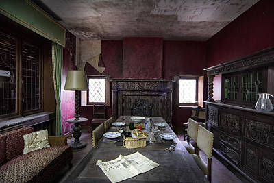 Abandoned Houses Photograph - Table For Four - Abandoned Building by Dirk Ercken